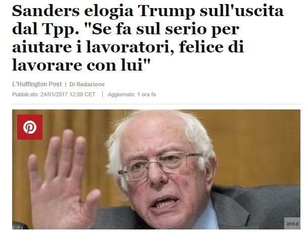 Clamoroso, Sanders pronto a lavorare con Donald J. Trump! Il vero motivo per cui il Presidente USA fa paura al sistema (e dunque rischia la vita)