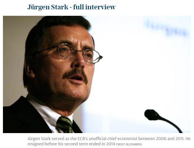 Anche Stark, ex falco BCE e BuBa: Italia andrebbe meglio con la sua moneta