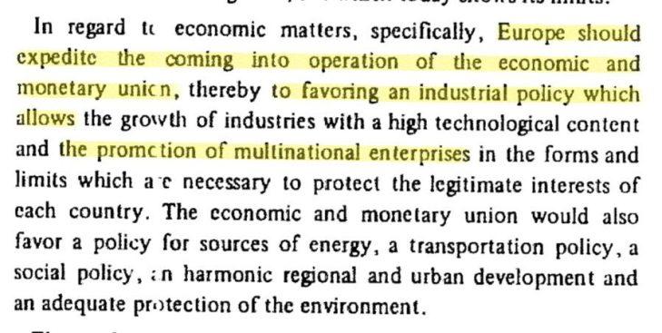 PAPER DEL 1972: VELOCIZZARE UNIONE MONETARIA PER AGEVOLARE LE MULTINAZIONALI