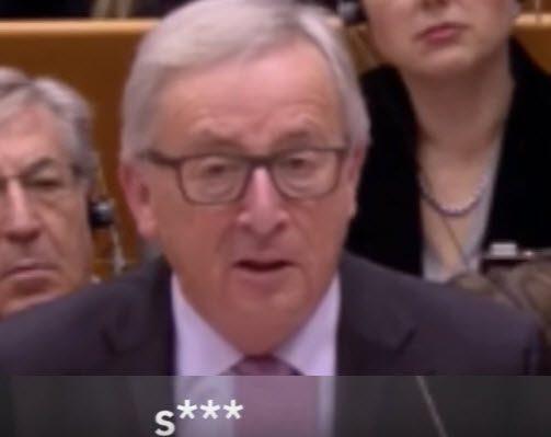 """""""MERDE"""" TUONA JUNCKER AL PARLAMENTO EUROPEO, MENTRE IL COSTRUTTO IMPERIALE VA A PEZZI."""