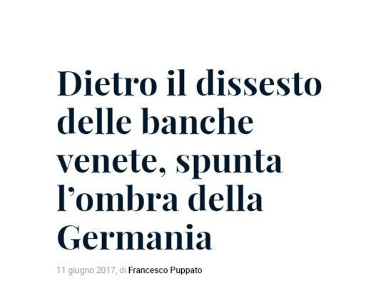 La Germania sta mettendo a rischio l'Unita nazionale Italiana? Il caso delle banche venete e l'attacco EU per farle fallire (e conquistare economicamente il Triveneto)