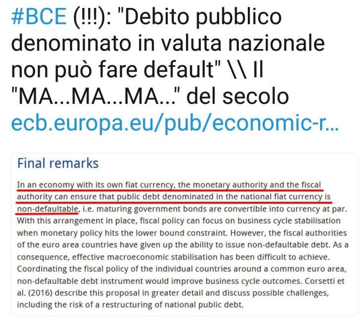 FINALMENTE BCE E MEDIA AMMETTONO L'EUROTRUFFA