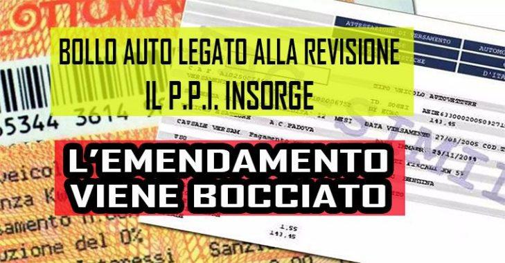 """Ricchiuti (P.P.I.) esulta """"Bocciato l'emendamento bollo auto/revisione"""" !"""