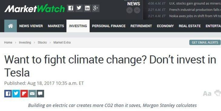 Morgan Stanley ammette che le auto elettriche creano più CO2 di quanto evitano. E Daimler che senza sovvenzioni non si vendono…