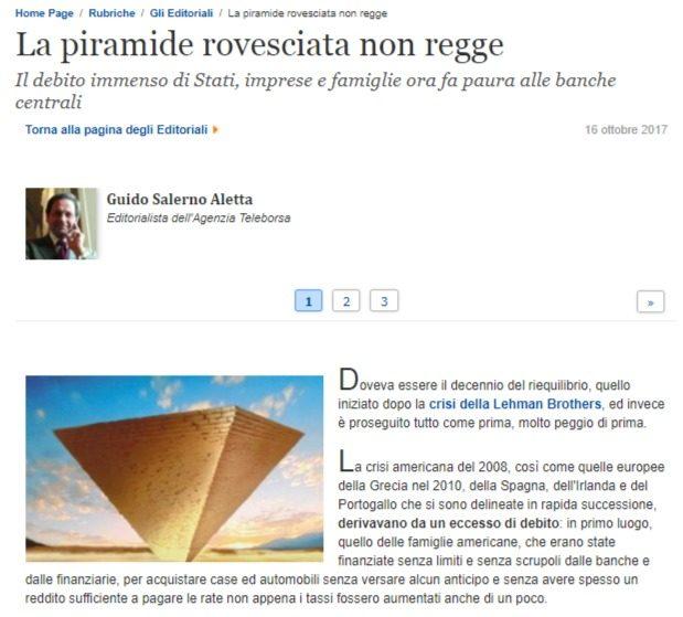 Nel silenzio dei media il sistema Italia sta implodendo. L'ottima versione di Guido Salerno Aletta