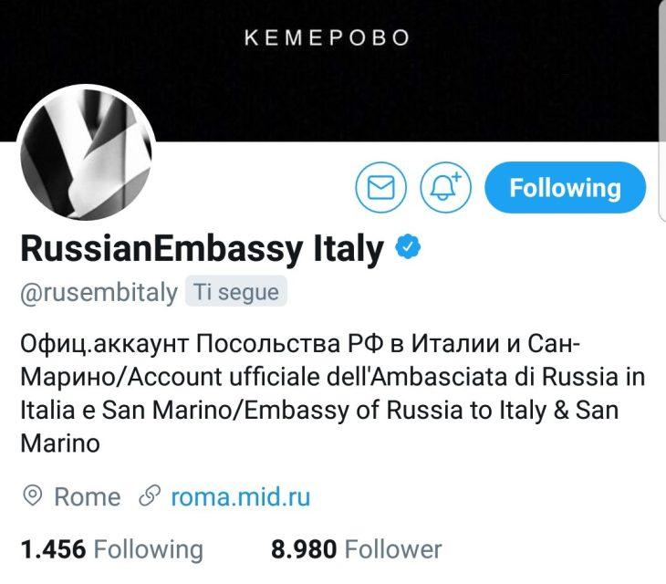 Commento dell'Ambasciata di Russia in Italia in relazione alla decisione di espellere funzionari di rappresentanze russe in Italia