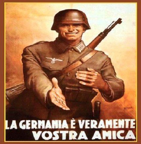 CARI TEDESCHI, SMETTETE DI INGIURIARE GLI ITALIANI, E NOI SMETTEREMO DI DIRE LA VERITA' SU DI VOI.