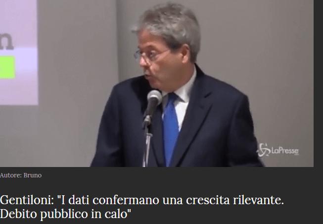 EUROSTAT CONFERMA CHE GENTILONI DISSE DELLE BALLE