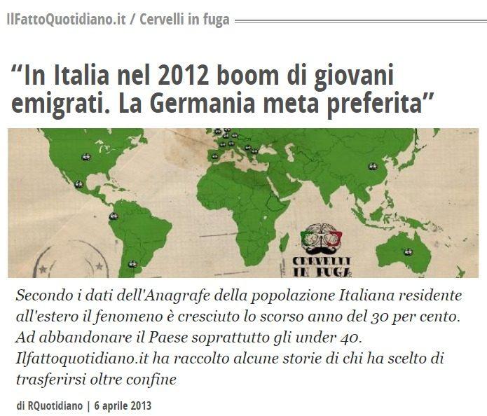 La fake news che l'Italia perde popolazione: si, ma SOLO a causa dell'austerità. Il piano della Germania per massacrare demograficamente l'Italia (scandaloso)