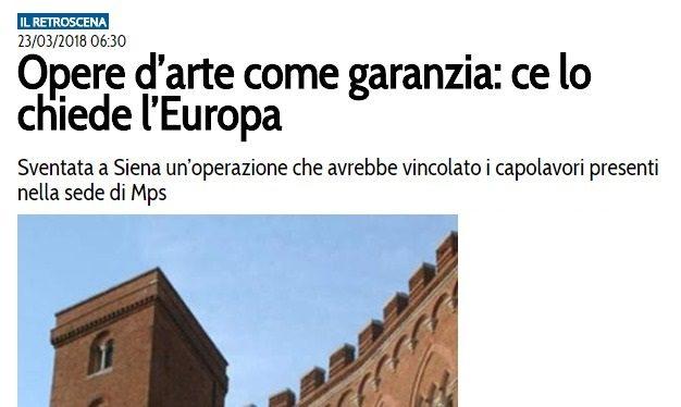 Borghi ha ragione: piuttosto che vendere MPS agli stranieri per poco o nulla, con magari opere d'arte incluse, meglio cambiare management, indirizzo strategico ed anche nazionalizzarla se necessario