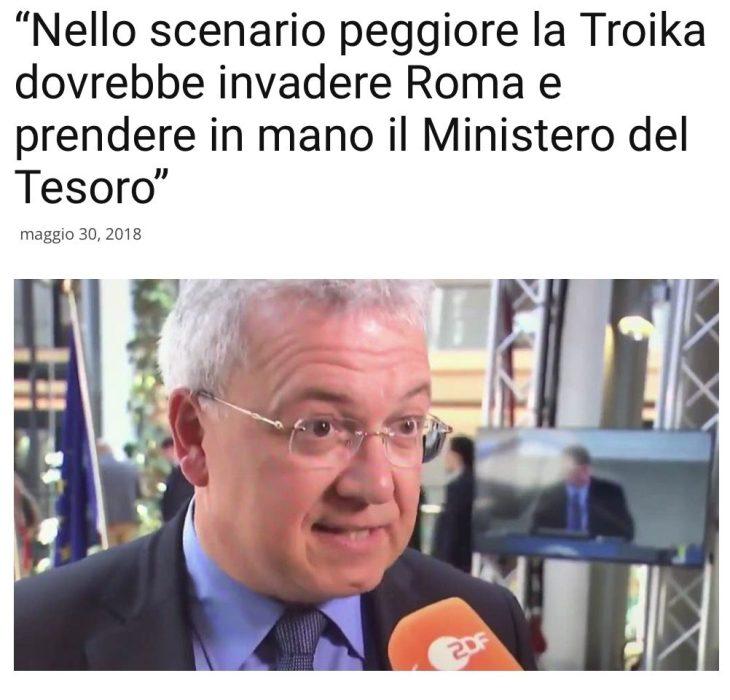 """""""La troika dovrebbe invadere Roma e impossessarsi del ministero del Tesoro"""", ecco cosa pensano i tedeschi dell'Italia"""