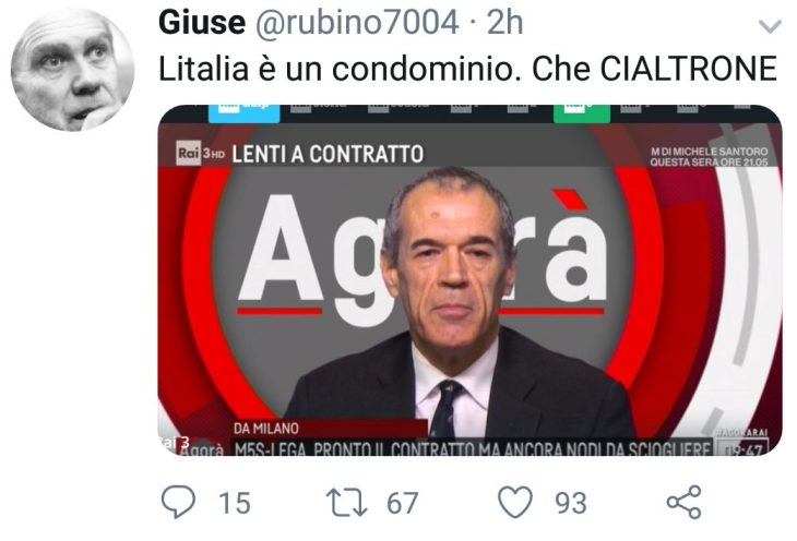 CARCARLO PIERCOTTARELLI E IL CONDOMINIO ITALIA