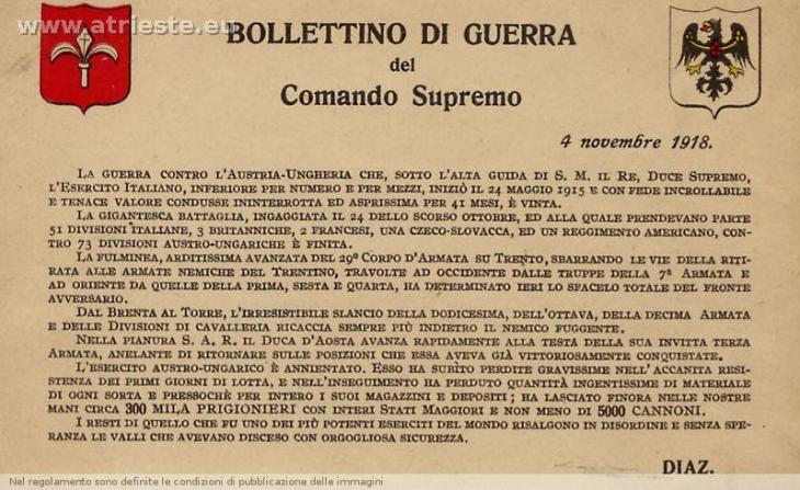 Rivelazione!!! L'Italia ha vinto la Prima Guerra Mondiale!