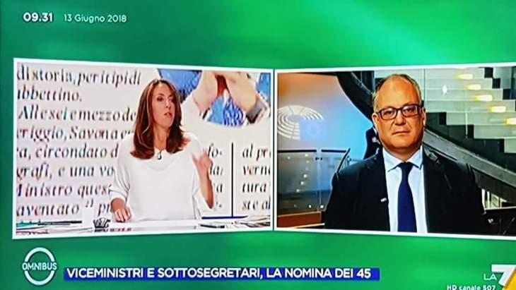 VOMITEVOLE PROPAGANDA DI REGIME A OMNIBUS LA7 QUESTA MATTINA