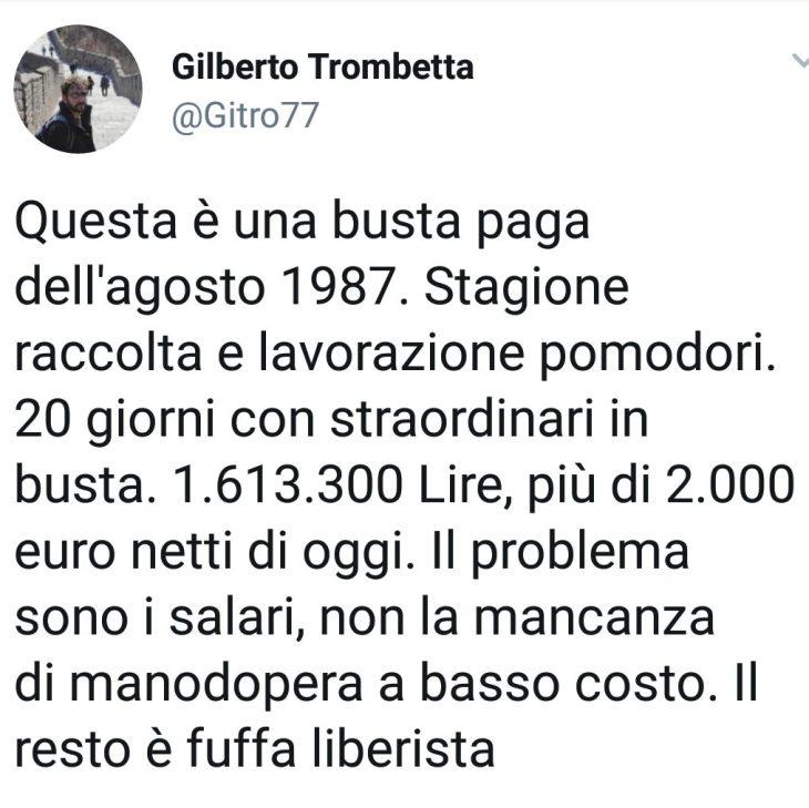 GILBERTO E LA BUSTA PAGA BRACCIANTE AGRICOLO