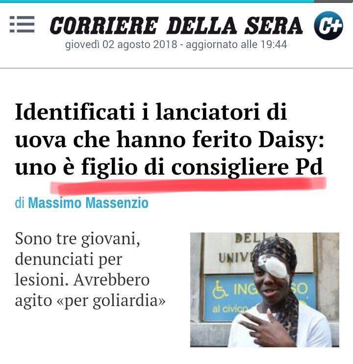 Mentre quelli del Pd accusavano Salvini di razzismo, a lanciare le uova erano proprio i loro figli (di Giuseppe PALMA)