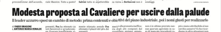 MARCELLO FOA PRESIDENTE UNA SOLUZIONE C'E' (di Fabio Dragoni ed Antonio Maria Rinaldi)