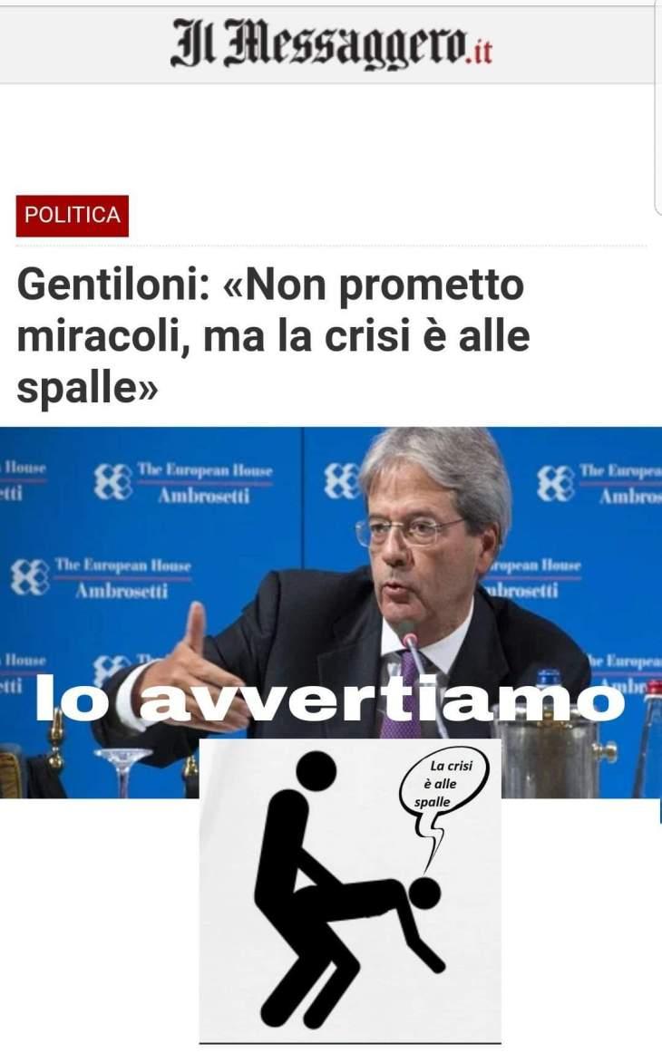 """CARCARLO GENTILONI VIENDALMARE: """"QUESTO GOVERNO IN 6 MESI DISTRUGGERÀ TUTTO IL LAVORO FATTO IN 5 ANNI"""""""