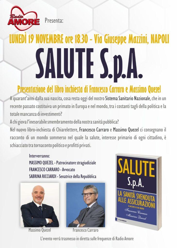 SALUTE S.P.A. – IL LIBRO – Presentazione a Napoli
