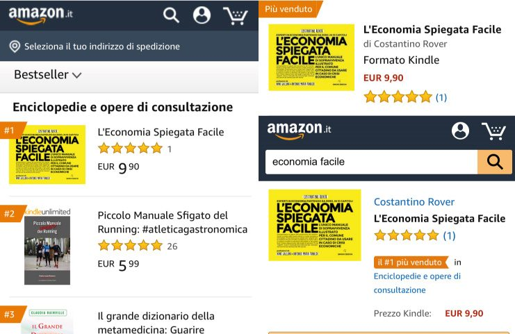 L'economia spiegata facile best seller su Amazon