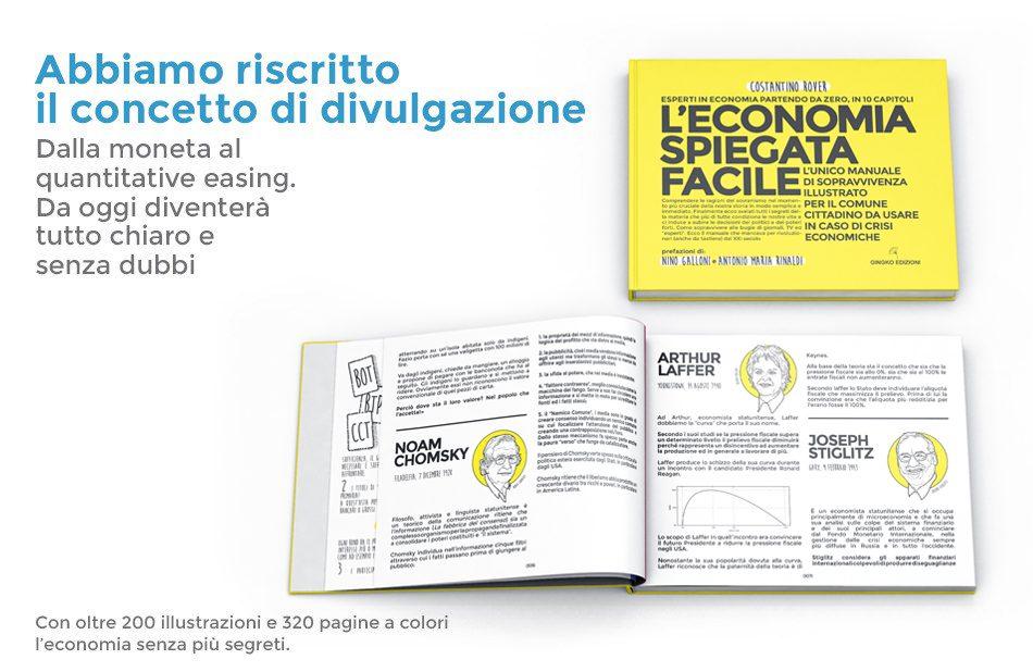 Libro di economia spiegata facile aperto