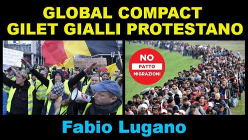 Fabio Lugano ad Italia News: Global Comact for Migration, gilet gialli ovunque!