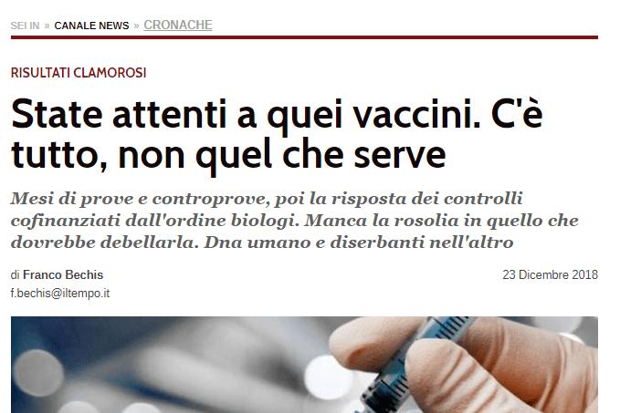 L'obbligo vaccinale è INCOMPATIBILE con il profitto privato. Lo scandalo dei vaccini SENZA PRINCIPIO ATTIVO