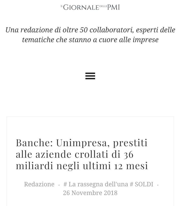 IL PARTITO DELLE BANCHE ALLA BASE DELLA CRISI ECONOMICA 2018/2019