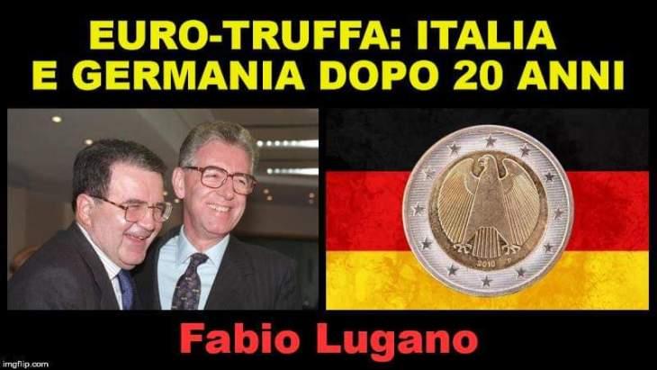 L'euro ha tolto oltre 70 mila euro ad ogni italiano. Intervista di Italia News a Fabio Lugano