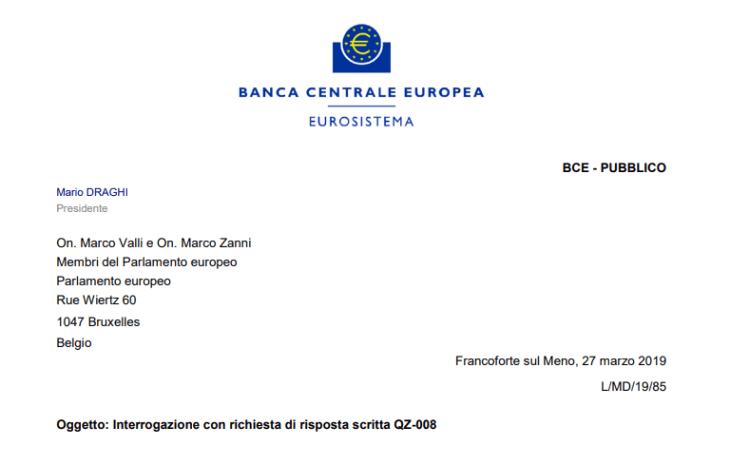 L'oro degli italiani? Non più, è della BCE. Parola di Draghi (grazie Valli e Zanni)