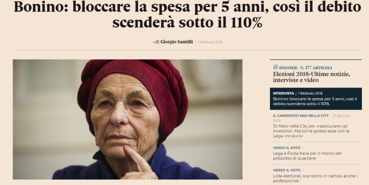 Chi votare e non votare alle prossime elezioni europee. La lezione di ignoranza in economia di Emma Bonino di Più Europa.