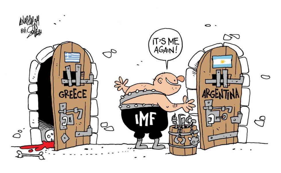 FMI con Grecia ed Argentina