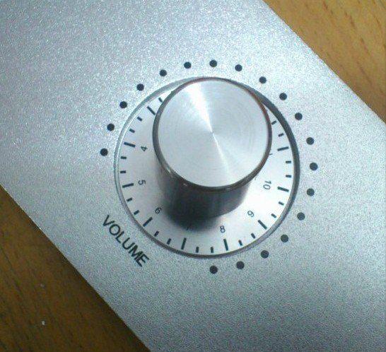 La manopola dell'amplificatore