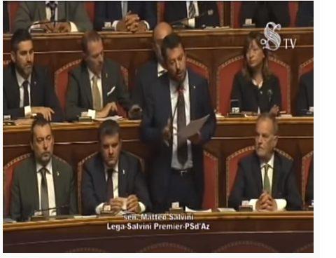 L'INTERVENTO DI SALVINI AL SENATO (VIDEO)