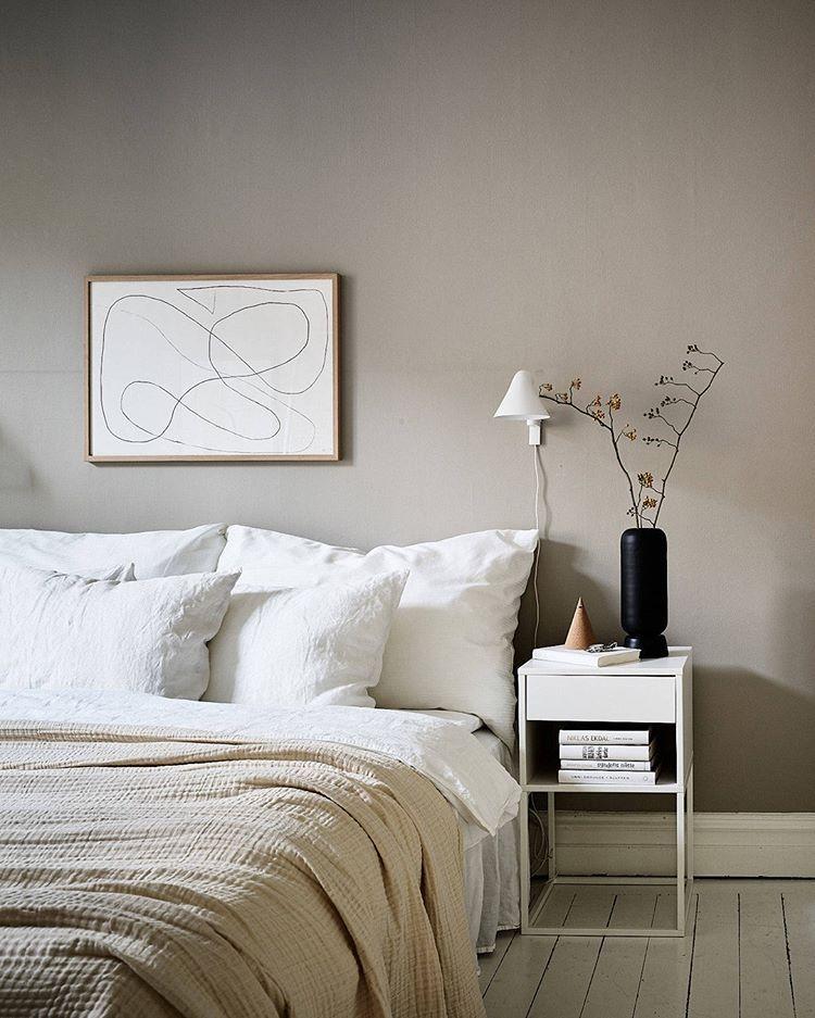 light Scandi bedroom