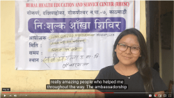 Pema Sherpa '19: Geneseo's Ambassador Provided Eye Care to Children in Nepal