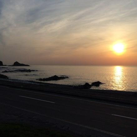 国民宿舎自慢の夕陽