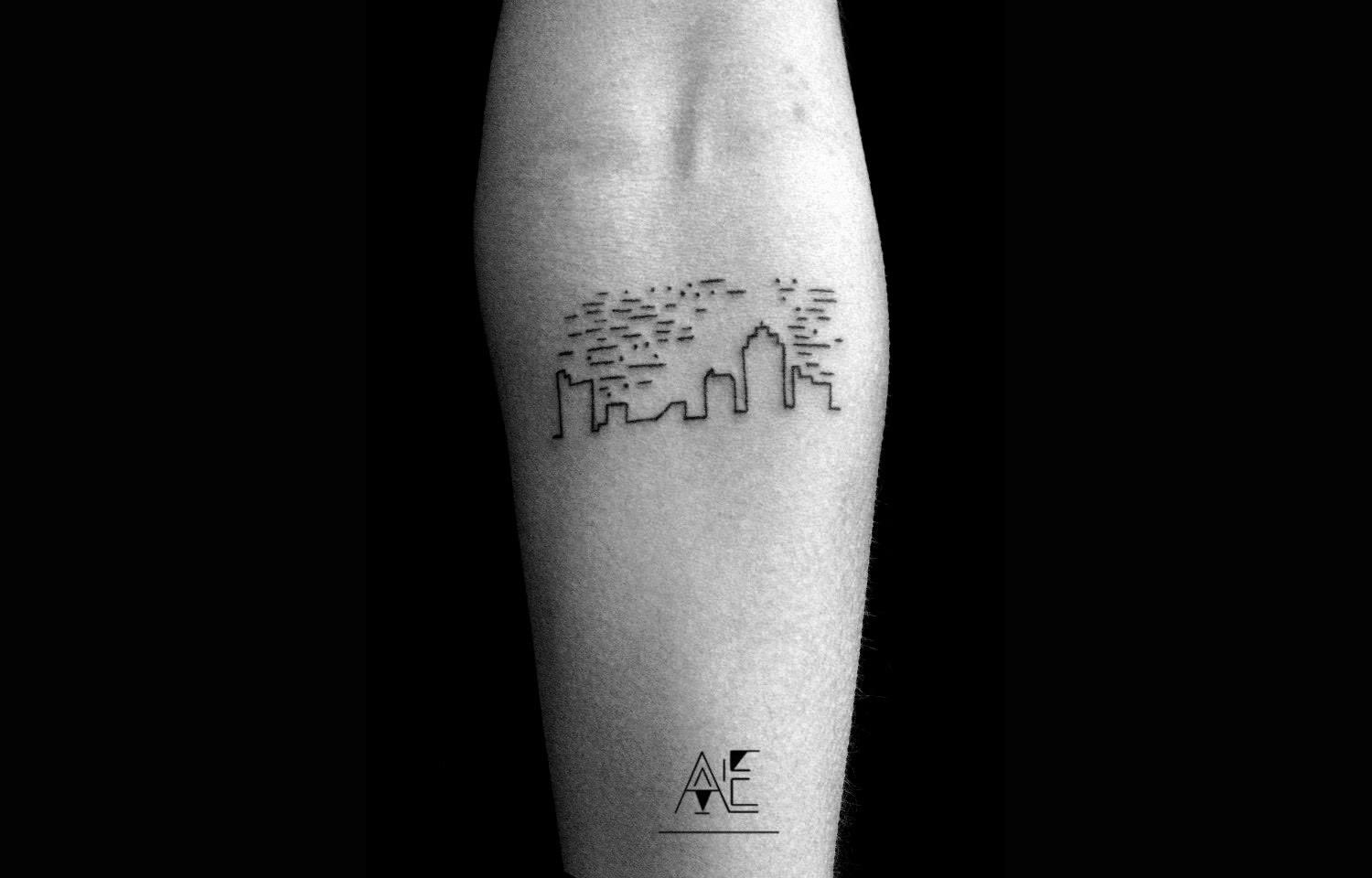 Mountain Minimalist Tattoo