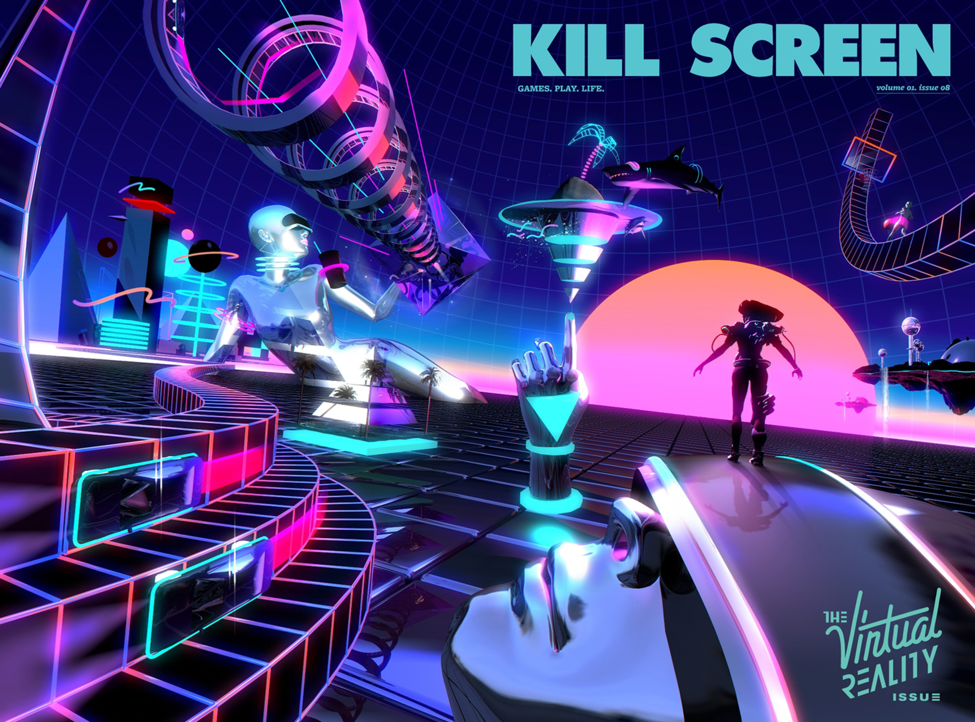 3d Hd Vaporwave Wallpaper The 80s Rule Animated Gifs By Kidmograph Scene360