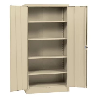 Sandusky Quick Assembly Steel Storage Cabinet  Putty  36