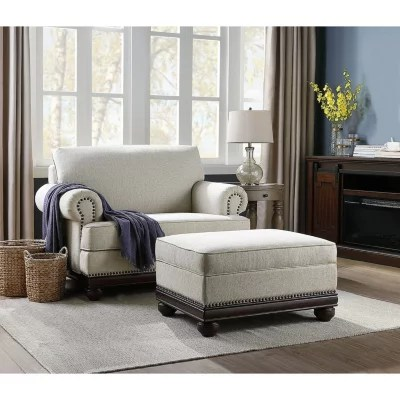 member s mark grayson oversized chair and storage ottoman