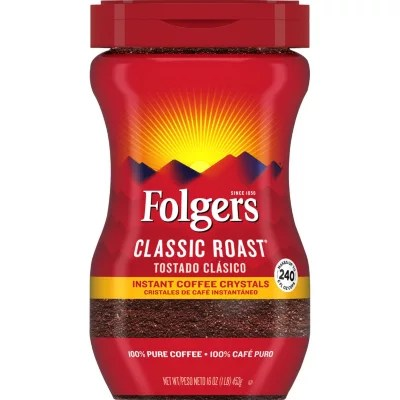 Folgers Classic Roast Instant Coffee Crystals 16 oz