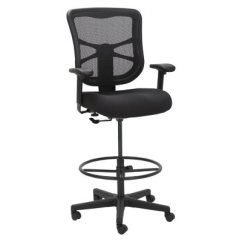 Office Chair Vs Stool Childs Upholstered Drafting Stools Sam S Club Alera Elusion Series Mesh Black