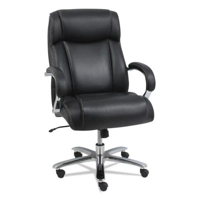 big and tall office chairs wheeless chair sam s club alera maxxis series leather black