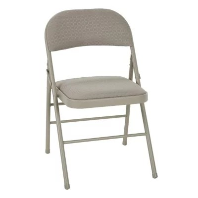cushioned folding chairs chair covers spandex sam s club cosco deluxe padded tan 4 pack