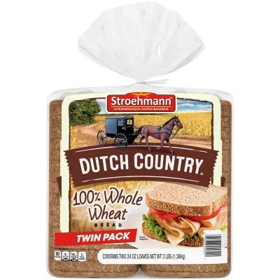 Stroehmann Dutch Country 100 Whole Wheat 24 oz 2 ct