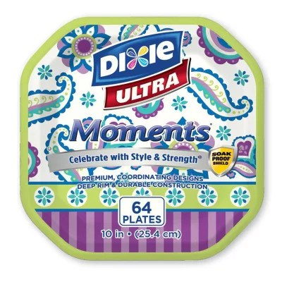Dixie Ultra Moments Paper Plates 10quot 64 ct Sam39s Club