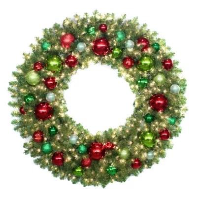 60 Prelit Traditional Holiday Wreath Sams Club