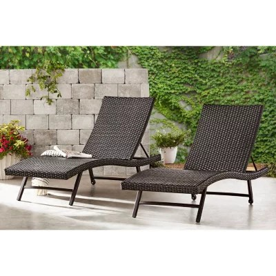 lounge outdoor chairs chair design for home patio daybed lounges sam s club member mark agio heritage woven chaise 2 pack