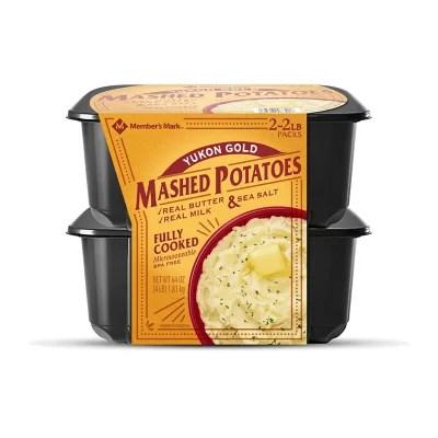 member s mark yukon gold mashed potatoes 4 lbs